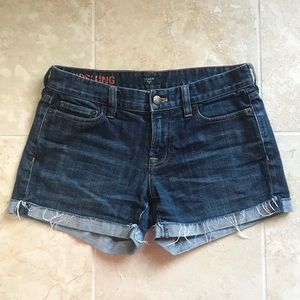 J. Crew Hipslung Denim Shorts